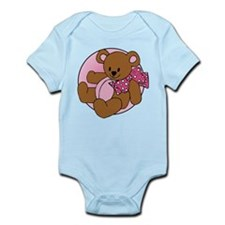 Beary Bow Pink Infant Bodysuit