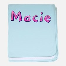 Macie Pink Giraffe baby blanket