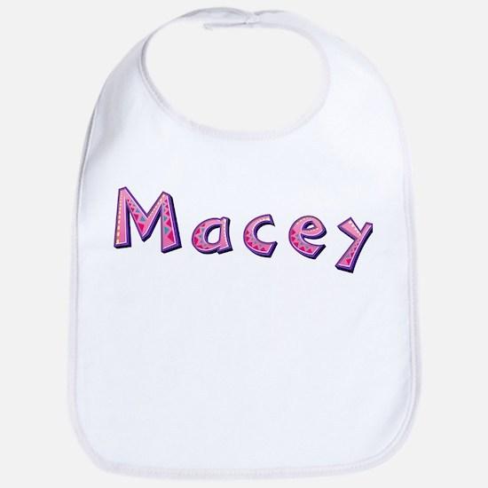 Macey Pink Giraffe Bib