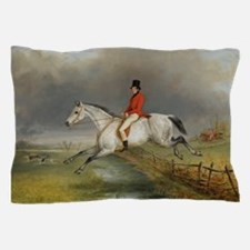 Clearing the Fence on the Hunt Pillow Case