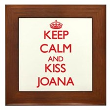 Keep Calm and Kiss Joana Framed Tile