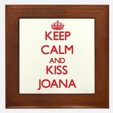 Keep Calm and Kiss Joana Framed Tile