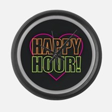 Happy Hour Large Wall Clock