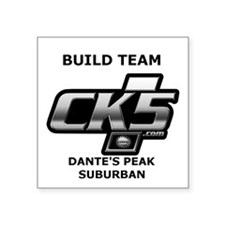 "Build Team Logo Square Stic Square Sticker 3"" X 3"""