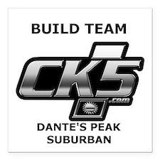 """Build Team Logo Square C Square Car Magnet 3"""" X 3"""""""