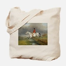 Clearing The Fence On The Hunt Tote Bag