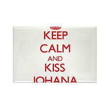 Keep Calm and Kiss Johana Magnets