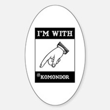 With the Komondor Oval Decal
