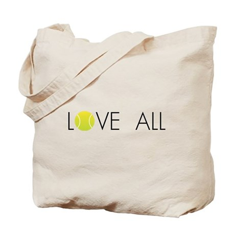 Tennis LOVE ALL Tote Bag