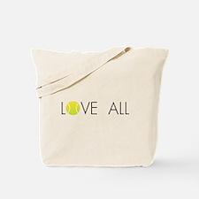 Tennis LOVE ALL Tote Bag