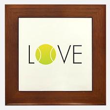 Tennis LOVE ALL Framed Tile
