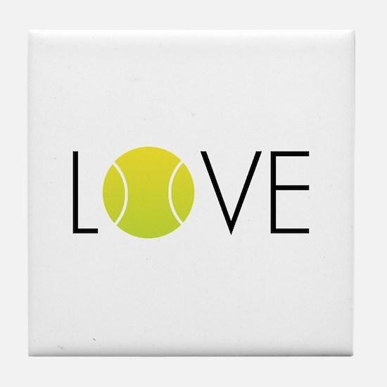 Tennis LOVE ALL Tile Coaster