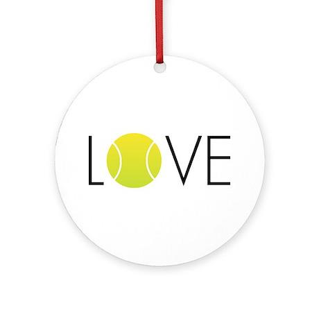 Tennis LOVE ALL Ornament (Round)
