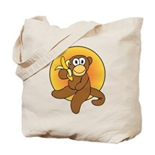 Banana Monkey Tote Bag