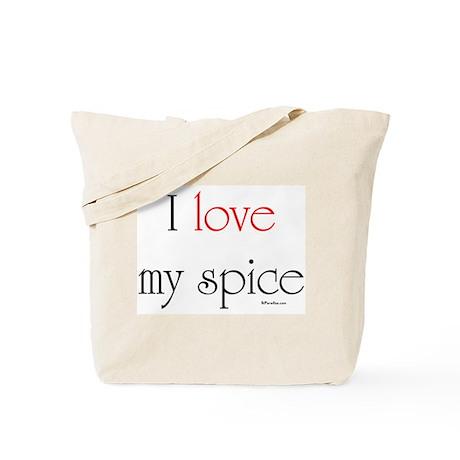 I love my spice (red love) Tote Bag