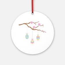 Easter Egg Cherry Blossom Ornament (Round)