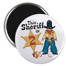 Sheriff 2nd Birthday Magnet