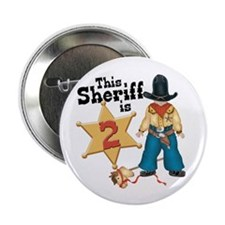"""Sheriff 2nd Birthday 2.25"""" Button (100 pack)"""