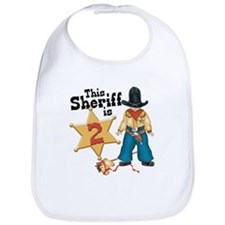 Sheriff 2nd Birthday Bib
