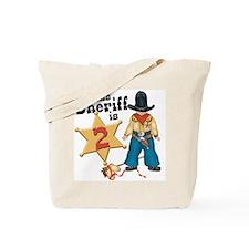 Sheriff 2nd Birthday Tote Bag