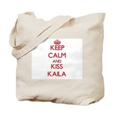 Keep Calm and Kiss Kaila Tote Bag