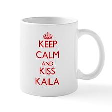 Keep Calm and Kiss Kaila Mugs