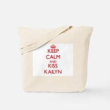 Keep Calm and Kiss Kailyn Tote Bag