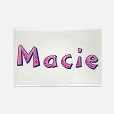 Macie Pink Giraffe Rectangle Magnet