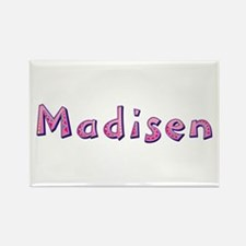 Madisen Pink Giraffe Rectangle Magnet