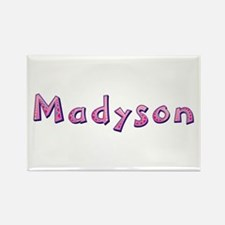 Madyson Pink Giraffe Rectangle Magnet
