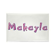 Makayla Pink Giraffe Rectangle Magnet