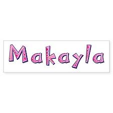Makayla Pink Giraffe Bumper Car Sticker