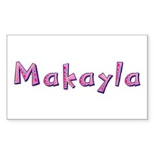 Makayla Pink Giraffe Rectangle Decal