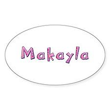 Makayla Pink Giraffe Oval Decal