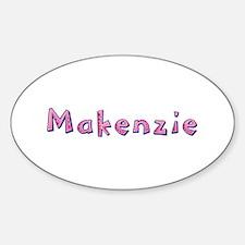 Makenzie Pink Giraffe Oval Decal