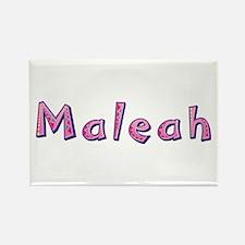 Maleah Pink Giraffe Rectangle Magnet