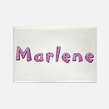 Marlene Pink Giraffe Rectangle Magnet