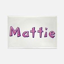 Mattie Pink Giraffe Rectangle Magnet