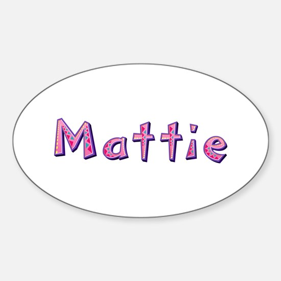 Mattie Pink Giraffe Oval Decal