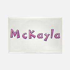 McKayla Pink Giraffe Rectangle Magnet
