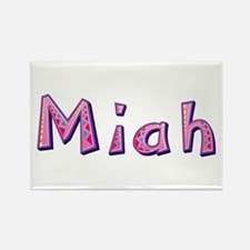Miah Pink Giraffe Rectangle Magnet