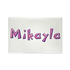 Mikayla Pink Giraffe Rectangle Magnet