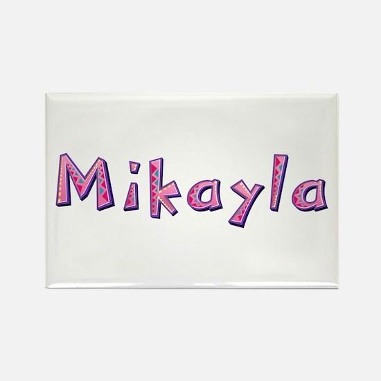 Mikayla Pink Giraffe Rectangle Magnet