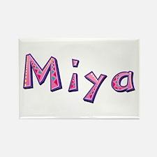 Miya Pink Giraffe Rectangle Magnet