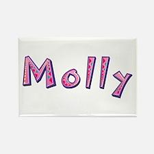 Molly Pink Giraffe Rectangle Magnet
