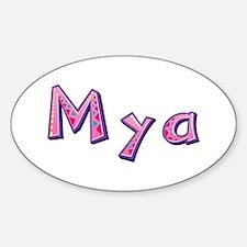 Mya Pink Giraffe Oval Decal