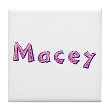 Macey Pink Giraffe Tile Coaster