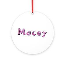 Macey Pink Giraffe Round Ornament