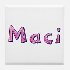 Maci Pink Giraffe Tile Coaster