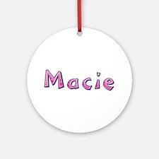 Macie Pink Giraffe Round Ornament